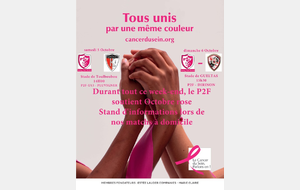 Durant ce week-end, le P2F soutient Octobre rose.